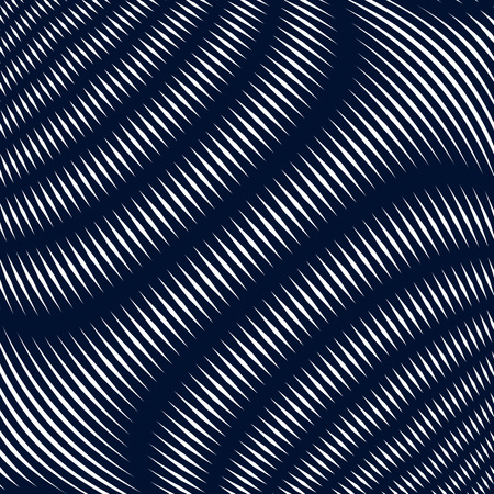 interference: Noisy contrast lined backdrop, tiling with visual effects. Moire art technique. Illustration