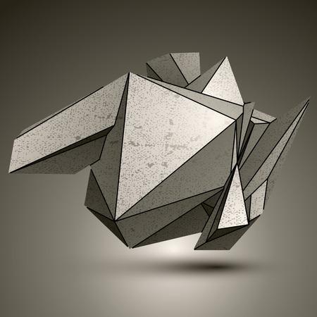cybernetic: Asymmetric technical zink object, contrast cybernetic spatial element.