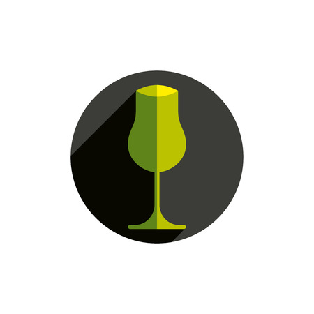 conceptual symbol: Winery theme, decorative stylish wine goblet. Wine tasting conceptual symbol, graphic design element for use in advertising. Illustration