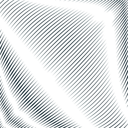moire: Decorative lined hypnotic contrast background. Optical illusion, creative black and white graphic moire backdrop.