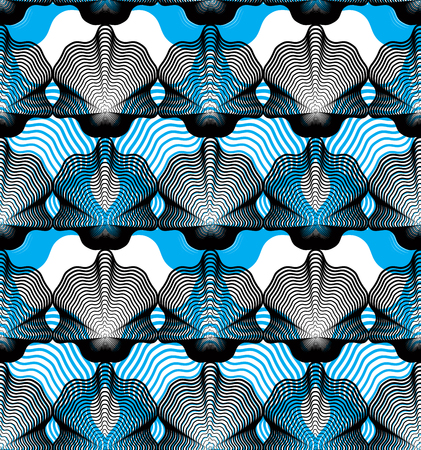 overlie: Vector bright stripy endless overlay pattern, art continuous geometric background with graphic lines.