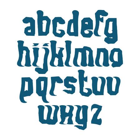 verb: Letras min�sculas vector contempor�neos Manuscrito, alfabeto pintado a mano del Doodle. Vectores