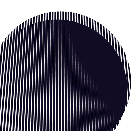 Optical background with monochrome geometric lines. Moire pattern, trance effect.