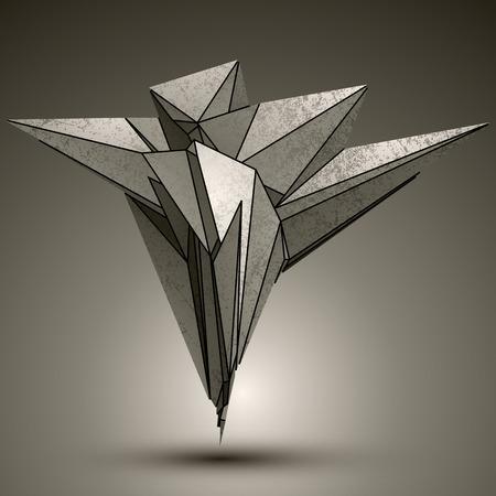 pico: Asim�trica objeto met�lico tecnolog�a de punta, complicada elemento cibern�tico con diferentes figuras geom�tricas.