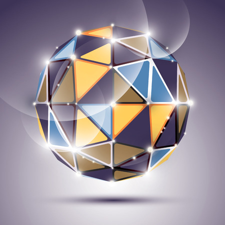 gleam: Abstract 3D colorful gleam sphere with sparkles, fantastic jewel effect, eps10. Illustration