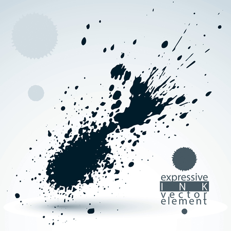 imprecise: Monochrome watercolor graffiti splash element, inaccurate paint backdrop, eps8 asymmetric spotted shape. Illustration