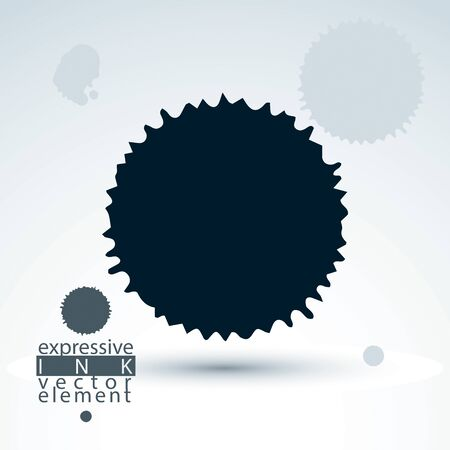 imprecise: Vector brush painted ink blob, eps8 smudge background. Web and graphic design black splash element. Illustration