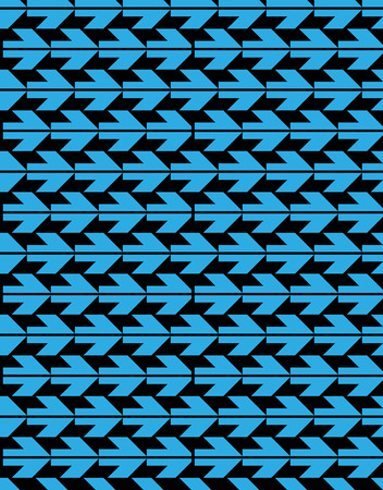 arrowheads: Bright abstract seamless pattern with blue arrows. Vector contrast wallpaper with arrowheads. Endless decorative background, best for graphic and web design. Illustration