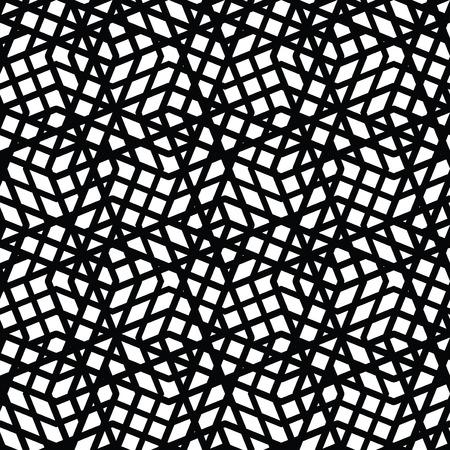 kifejező: Geometriai rendetlen bélelt zökkenőmentes minta, fekete-fehér vektoros végtelen háttér. Dekoratív kifejező motívum textúra.