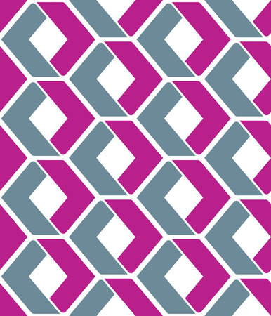 Endless vector texture with purple geometric figures, motif abstract contemporary geometric background. Creative artificial symmetric continuous composition, for graphic and web design.