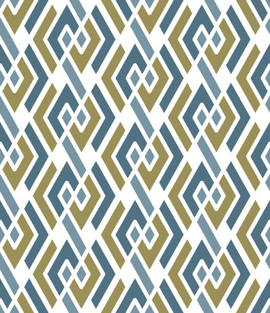 interweave: Pastel geometric art seamless pattern, vector mosaic colored interweave background. Symmetric illusive artificial backdrop.