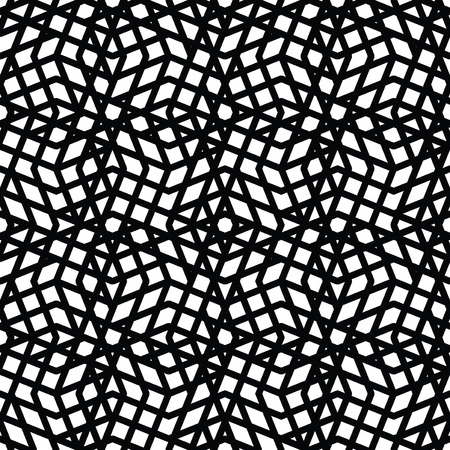 expressive: Geometric messy lined seamless pattern, monochrome vector endless background. Decorative expressive motif texture.
