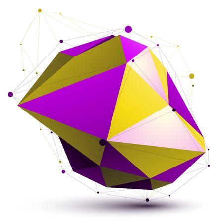apex: Triangular vivid abstract 3D illustration Illustration