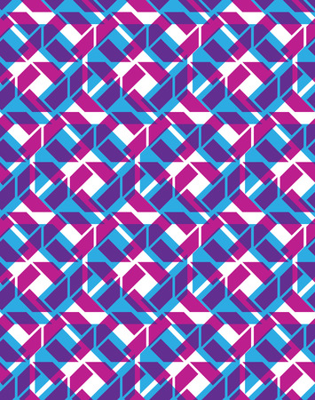 multilayered: Seamless ornament pattern, colorful multilayered infinite geometric textile, abstract vector textured visual covering. Overlay bright inspired background with geometric figures.
