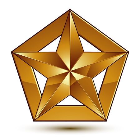 golden star: Wonderful vector template with golden star symbol, best for use in web and graphic design.