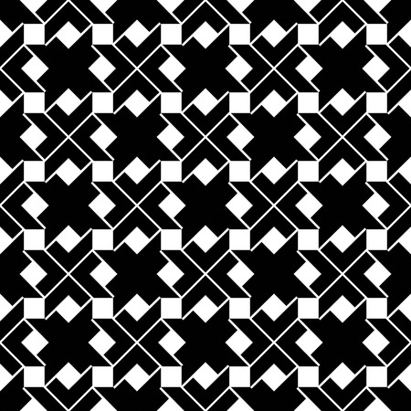 expressive: Monochrome geometric art seamless pattern, vector artificial expressive background with squares. Symmetric rhythmic classic backdrop. Illustration