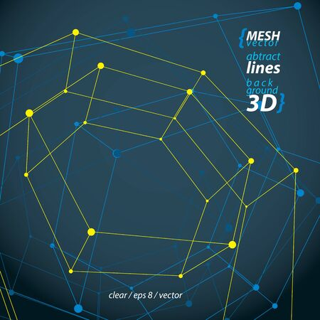 Clear Engineering Vector Illustration, 3d Mesh Symbol Isolated ...