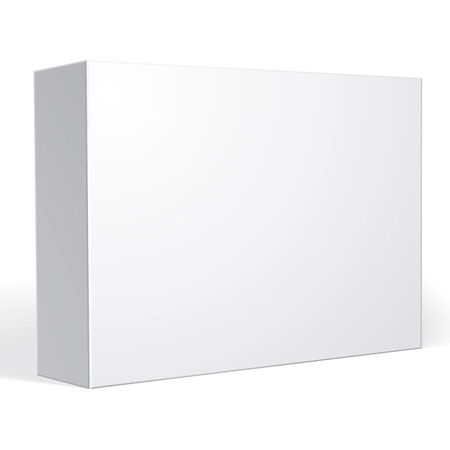 Package white box design isolated on white background, template for your package design, put your image over the box in multiply mode 免版税图像 - 43236066