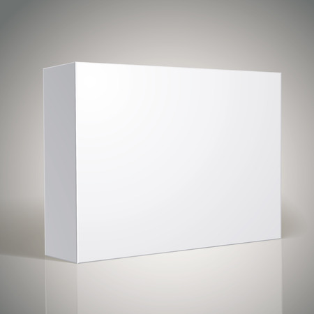 パッケージ ホワイト ボックス設計テンプレートのボックスの上に画像を入れて、パッケージ デザインの乗算モード  イラスト・ベクター素材