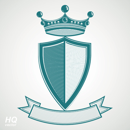 blazon: Heraldic royal blazon illustration - imperial striped decorative coat of arms.
