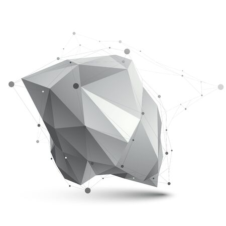 grayscale: Triangular abstract grayscale 3D shape