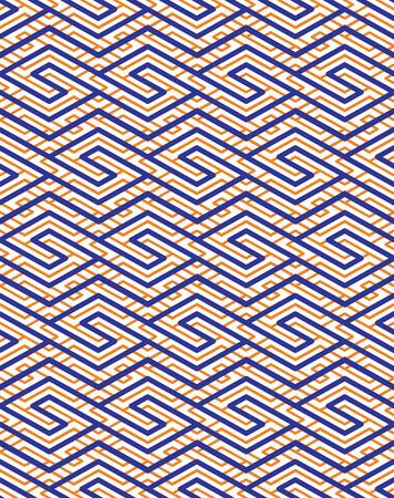 parallelogram: Colorido patr�n transparente geom�trica con el ornamento de zigzag sim�trica. Rombos y paralelogramos fondo gr�fico contempor�neo. Empalme brillante infinita tel�n de fondo. Vectores