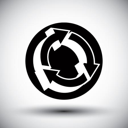 consequence: Reload refresh arrows loop vector simple single color icon.