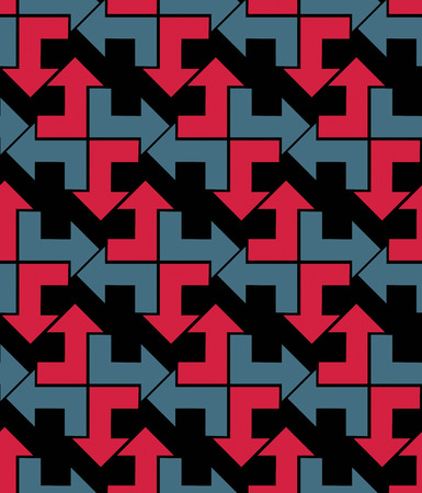 arrowheads: Bright abstract seamless pattern with arrows. Vector wallpaper with arrowheads. Endless decorative background, best for graphic and web design.