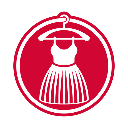 petticoat: Cloth icon, vector illustration of dress. Illustration