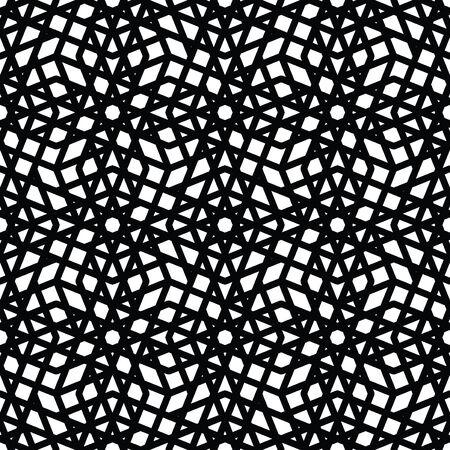 kifejező: Geometric messy lined seamless pattern, monochrome vector endless background. Decorative expressive motif texture.
