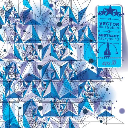 figuras abstractas: Construcción de estilo contemporáneo tecnología, fondo tridimensional abstracto con figuras geométricas. Vectores