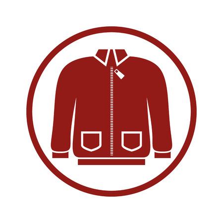 vamp: Cloth icon, vector illustration of sweater.