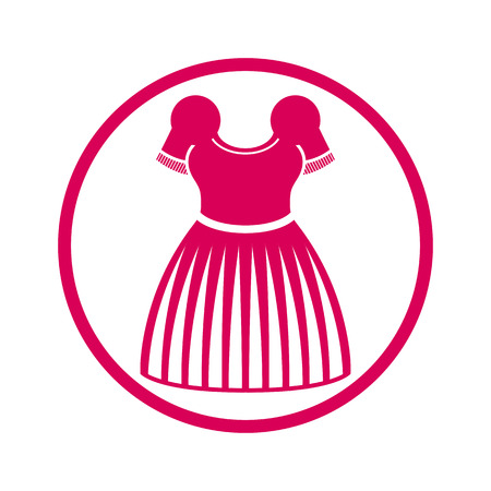 colorful dress: Cloth icon, vector illustration of colorful dress.