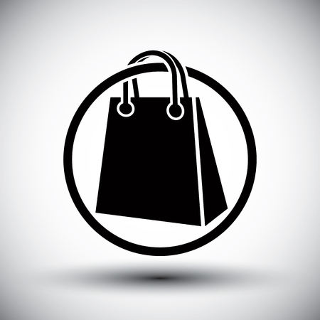 single color: Shopping bag vector simple single color icon.