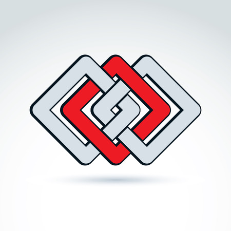 complex: Complex geometric corporate element.  Illustration