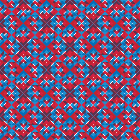 visual effect: Bright stylized symmetric endless pattern, continuous creative artificial composition, geometric ornamental background with overlapping figures. Visual effect, op ar. Trendy ethnic covering. Illustration