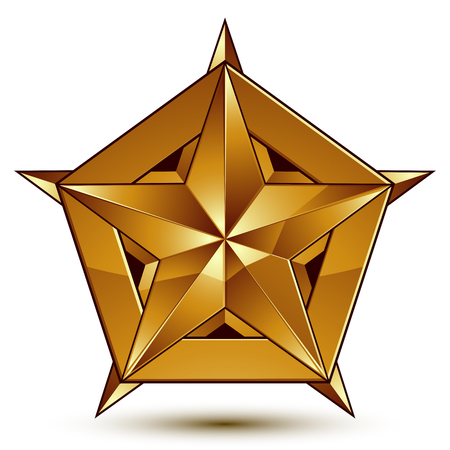 Royal golden geometric symbol, stylized golden star, best for use in web and graphic design, corporate