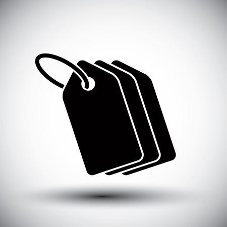 Tag retail theme vector simple single color icon. 일러스트
