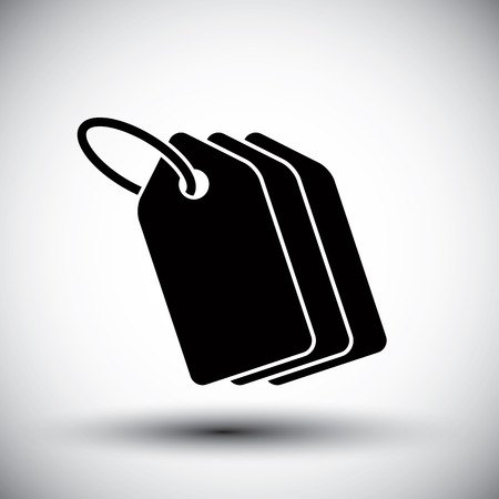 Tag retail theme vector simple single color icon. Vectores