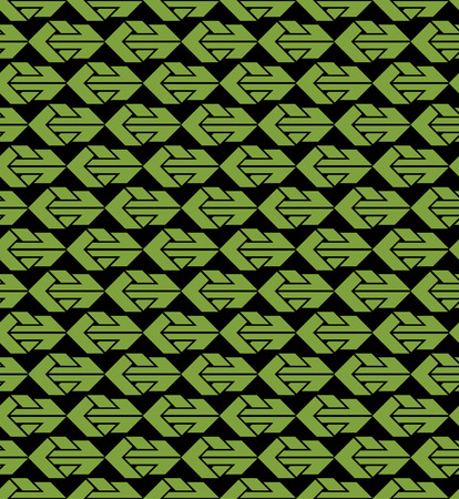 green arrows: Bright abstract seamless pattern with green arrows.  Illustration
