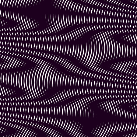 tiling: Optical illusion, moire background, abstract lined monochrome vector tiling. Unusual geometric pattern with visual effects. Illustration