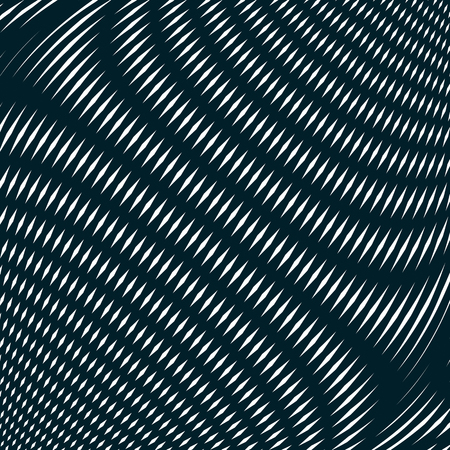trance: Optical background with monochrome geometric lines. Moire pattern, trance effect.