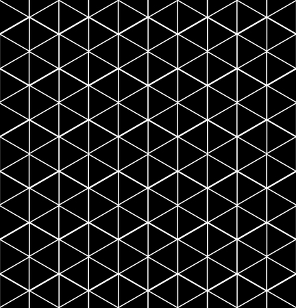 surface covering: Monochrome illusive abstract geometric seamless pattern with cubes. Vector stylized texture. Illustration
