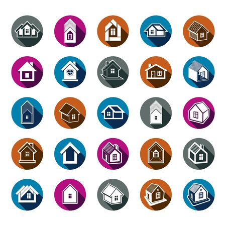 idealistic: Houses abstract icons