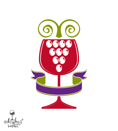 revelry: Winery award theme vector illustration.  Illustration