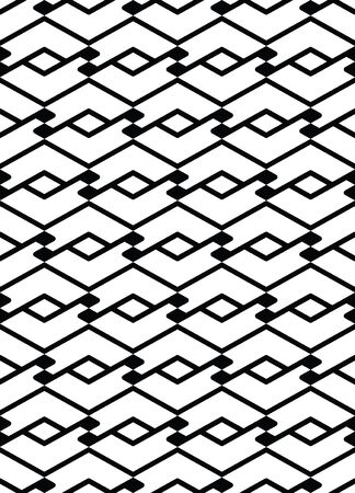 covering: Monochrome seamless pattern with parallel lines, black and white infinite geometric mosaic textile, abstract vector textured web visual covering. Illustration