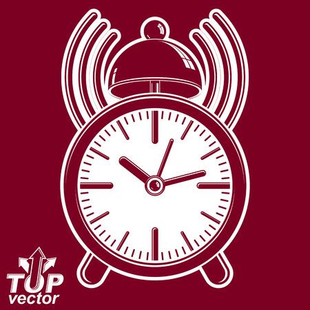 alarm clock: Alarm clock vector 3d illustration