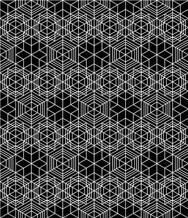 Futuristic continuous black and white pattern