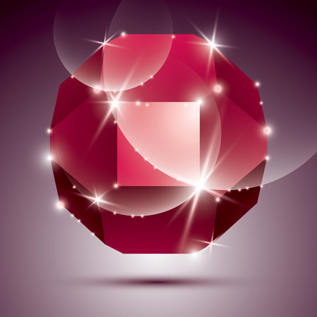 dazzling: Party dimensional red sparkling disco ball. Vector dazzling abstract illustration - eps10 treasure. Celebration theme. Illustration