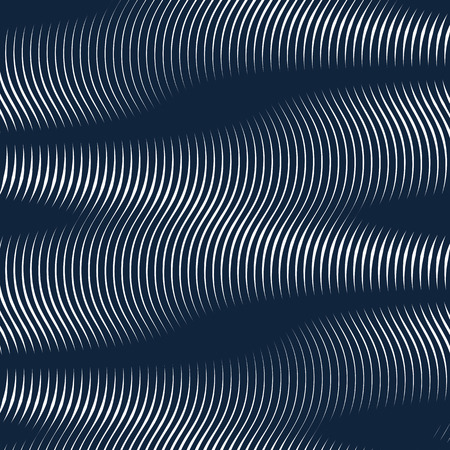 Moire pattern, op art background. Hypnotic backdrop with geometric black lines. Abstract vector tiling.
